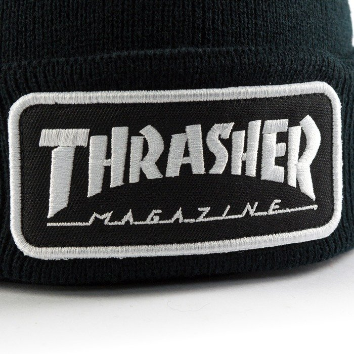 Thrasher beanie Logo Patch black