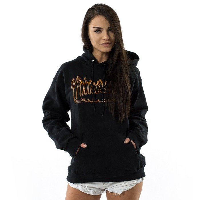 Thrasher sweatshirt hoody Richter black