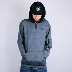 Unleashed Melange Hoody grey