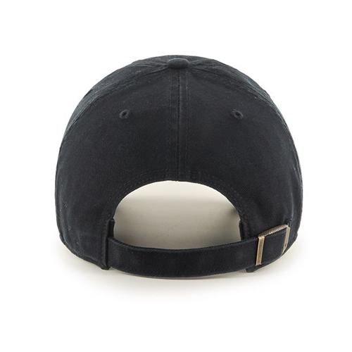 47 brand dad hat strapback Clean Up Anaheim Mighty Ducks black ... 3a44374ac43