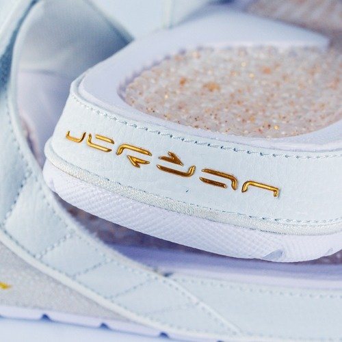83fc6ae9e1e2 ... Air Jordan 12 Hydro Slides OVO Retro white   gold (873907-102) TM Click  to zoom. 1