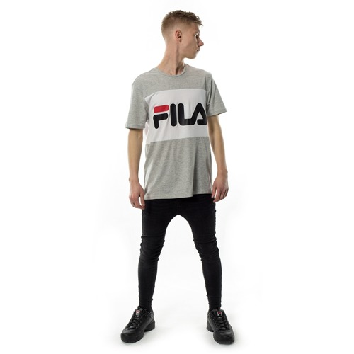 b6a3f7c0c9e3 ... FILA t-shirt Men Day light grey melange / bright white Click to zoom. 1