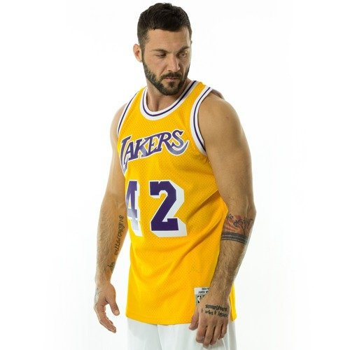 99bcb7924ad Mitchell and Ness Swingman Jersey HWC Los Angeles Lakers James ...