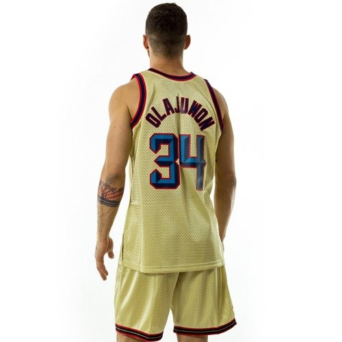 02a9a2bf ... Mitchell and Ness gold swingman jersey QS Houston Rockets Hakkem Olajuwon  gold / red Click to zoom. 1