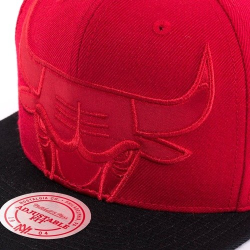 size 40 822b9 4b98e ... Mitchell and Ness snapback Cropped Satin Chicago Bulls red Click to  zoom. 1