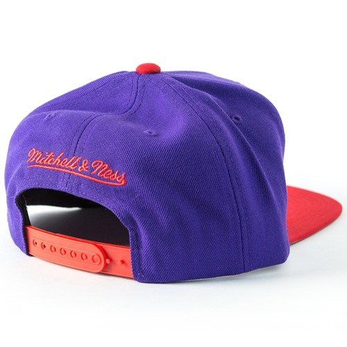 super popular 35b65 6bd09 ... Mitchell and Ness snapback Cropped XL Logo Toronto Raptors purple   red  Click to zoom. 1