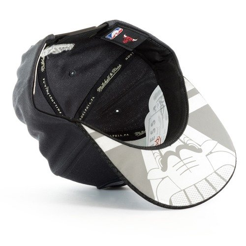 size 40 7b7b9 9c3ac ... Mitchell and Ness snapback Hologram Mesh Stop On Dime Chicago Bulls  grey Click to zoom. 1