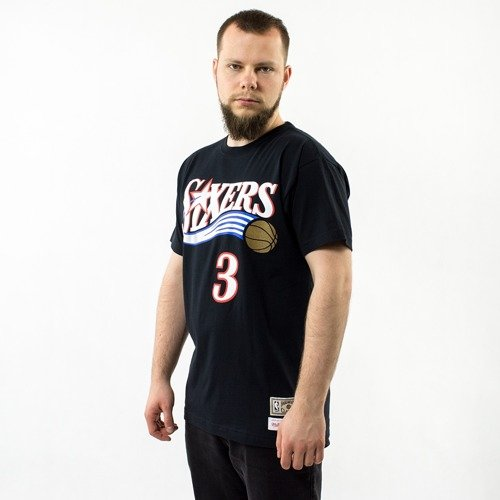 9fcdb645e79 ... Mitchell and Ness t-shirt Player Name   Number Traditional Allen  Iverson Philadelphia 76ers black Click to zoom. 1