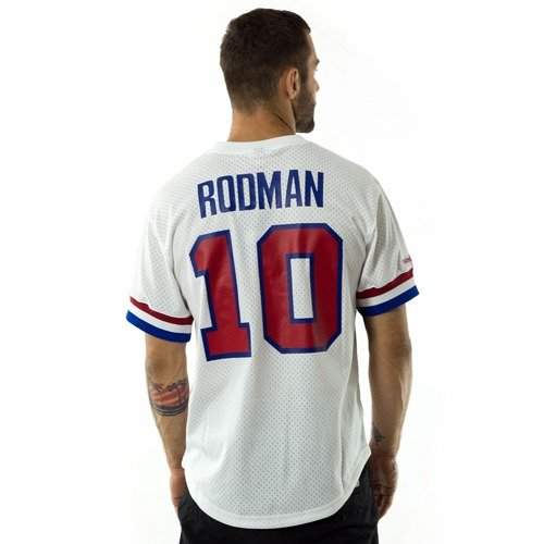 7298a150704 Mitchell and Ness t-shirt Rodman  10 Player Name   Number Mesh ...
