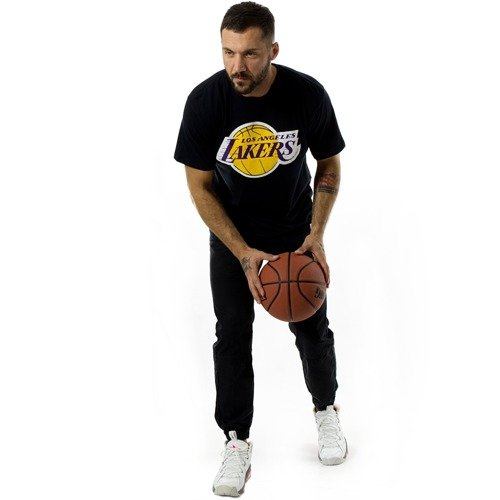 sports shoes fdce8 72403 ... Mitchell and Ness t-shirt Team Logo Los Angeles Lakers black Click to  zoom. 1