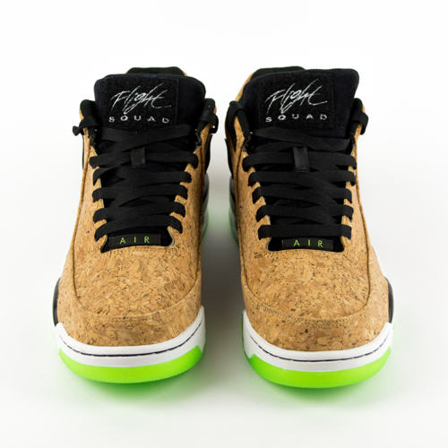 online retailer d0656 430fd ... Nike Air Flight Squad Cork natural   black - voltage green - white  (748281- Click to zoom. 1