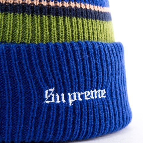 498516c99ac ... Supreme Big Stripe Beanie blue Click to zoom. 1
