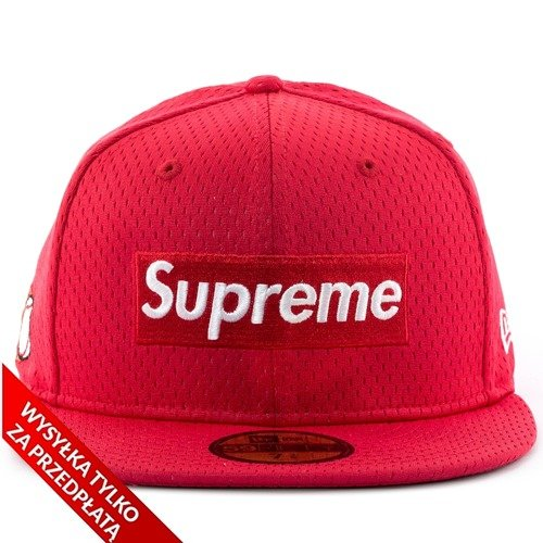 0b96fe47d46 ... Supreme cap fitted Mesh Box Logo New Era 59FIFTY red Click to zoom. 1