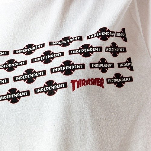 f97161de Thrasher x Independent t-shirt WMNS Pentagram white White | T-Shirts ...