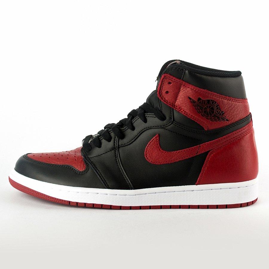 Buty do koszykówki Air Jordan 1 Banned Retro High OG black varsity red white (555088 001) TM
