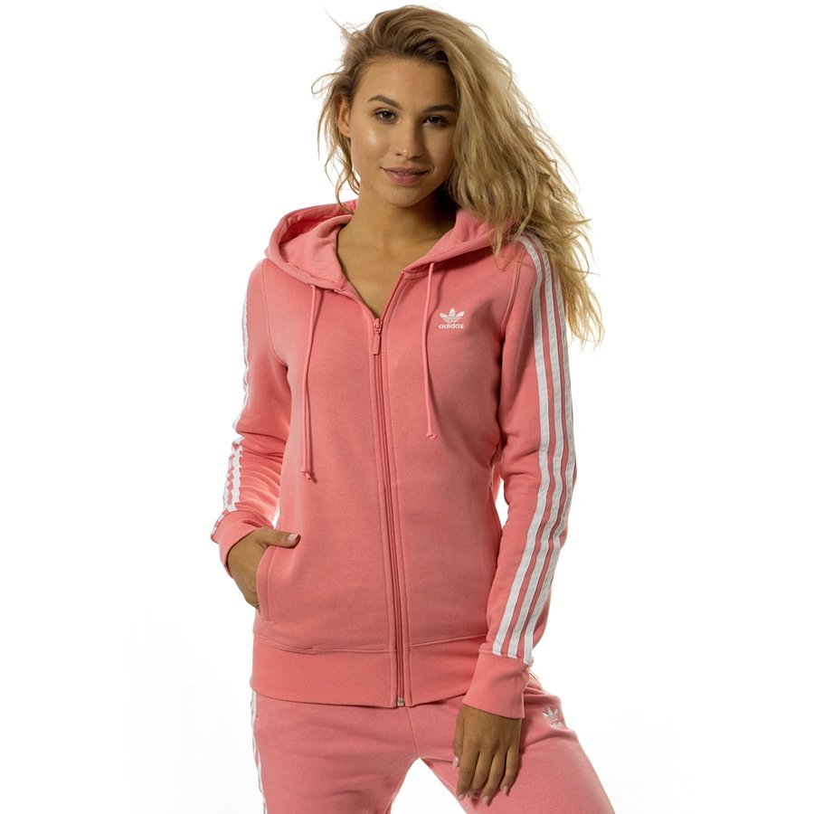 f69c516e Bluza damska Adidas Originals sweatshirt 3STR Zip Hoodie tactile rose  (DN8150)