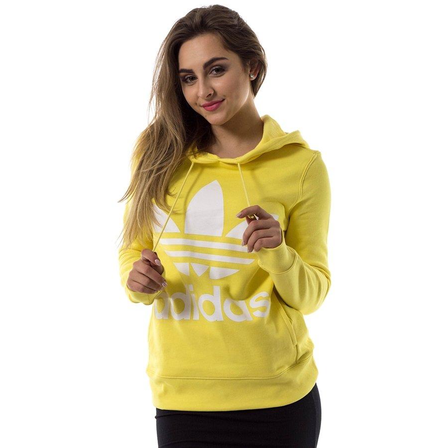 Bluza damska Adidas Originals sweatshirt Trefoil Hoodie intense lemon (CE2413) 40