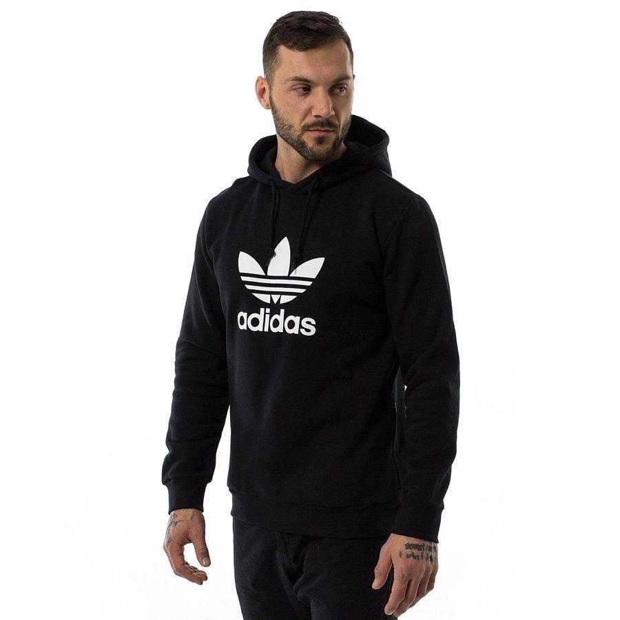 Bluza męska Adidas Originals hoody Trefoil Warm Up black (CW1240) 40