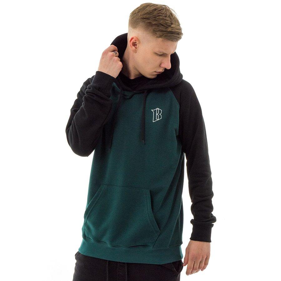 wspaniały wygląd tanio na sprzedaż najlepszy hurtownik Bluza męska BOR hoody B Logo Raglan bottle green / black