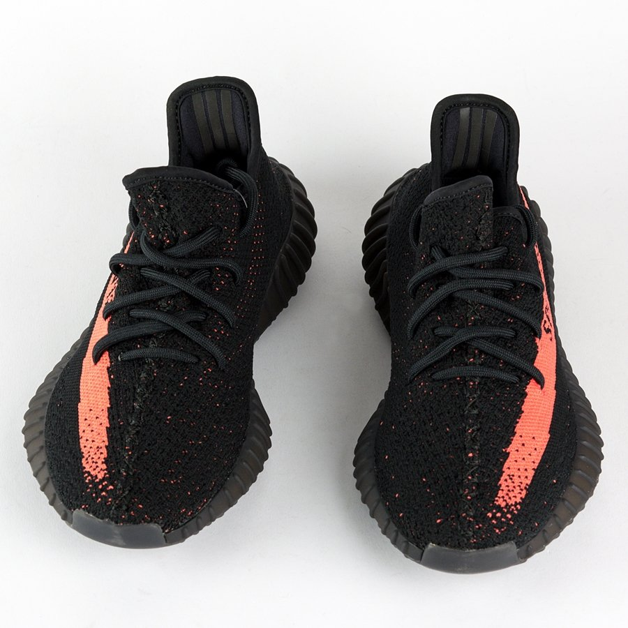 latest design hot sale online authorized site Buty Adidas Originals Yeezy Boost 350 V2 black / red (BY9612)