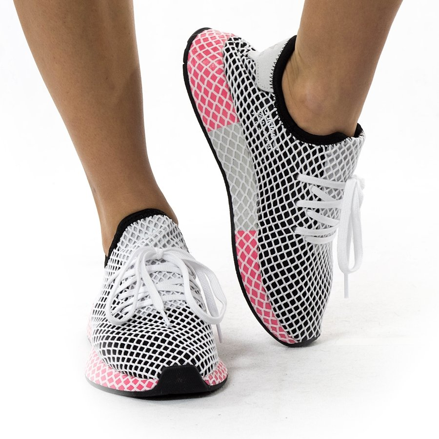 Buty damskie Adidas Originals Deerupt Runner black core black chalk pink (CQ2909) 40