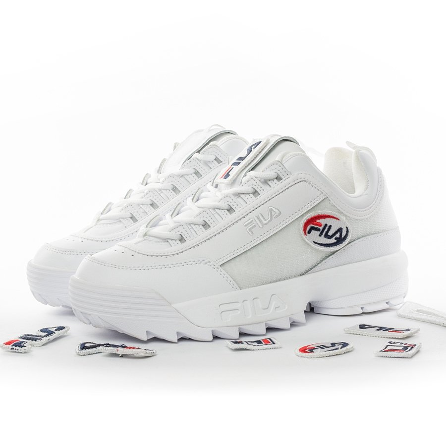 Buty damskie Fila Disruptor II Patches white (5FM00538.100)