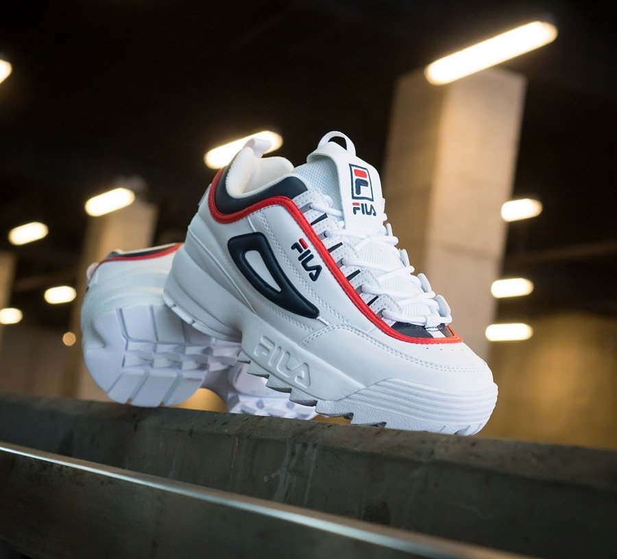 Buty męskie Fila Disruptor CB Low white fila navy fila red (1010575.01M)