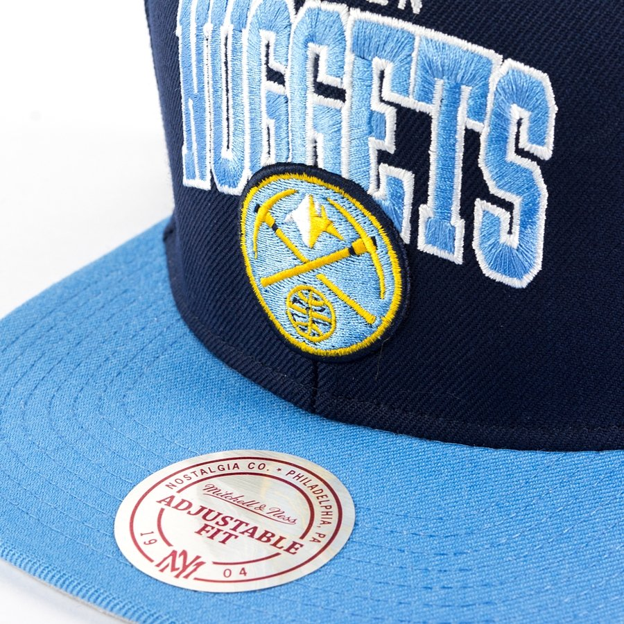 Denver Nuggets: Czapka Mitchell And Ness Snapback Team Arch Denver Nuggets