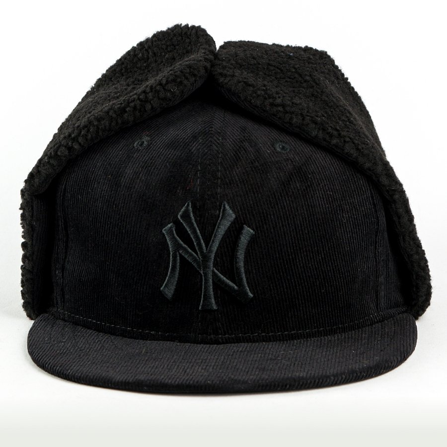 specjalne do butów najlepiej sprzedający się najnowsza zniżka Czapka zimowa New Era Dog Ear fitted New York Yankees black 59FIFTY