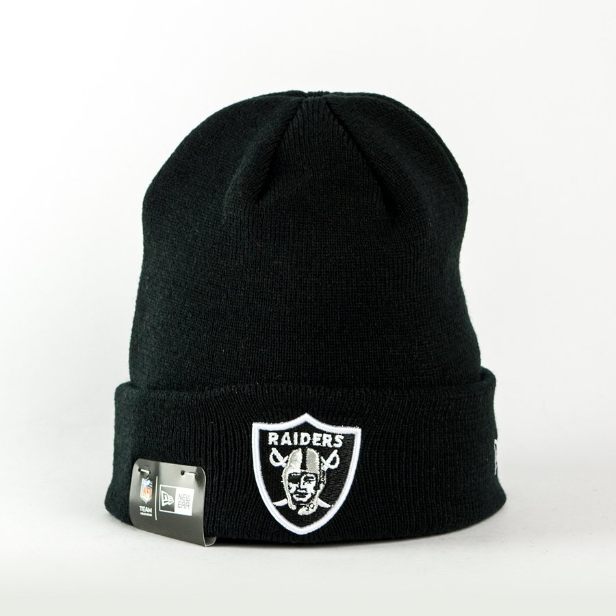 nowe obrazy wykwintny styl wyglądają dobrze wyprzedaż buty Czapka zimowa New Era Essential Cuff NFL Oakland Raiders black