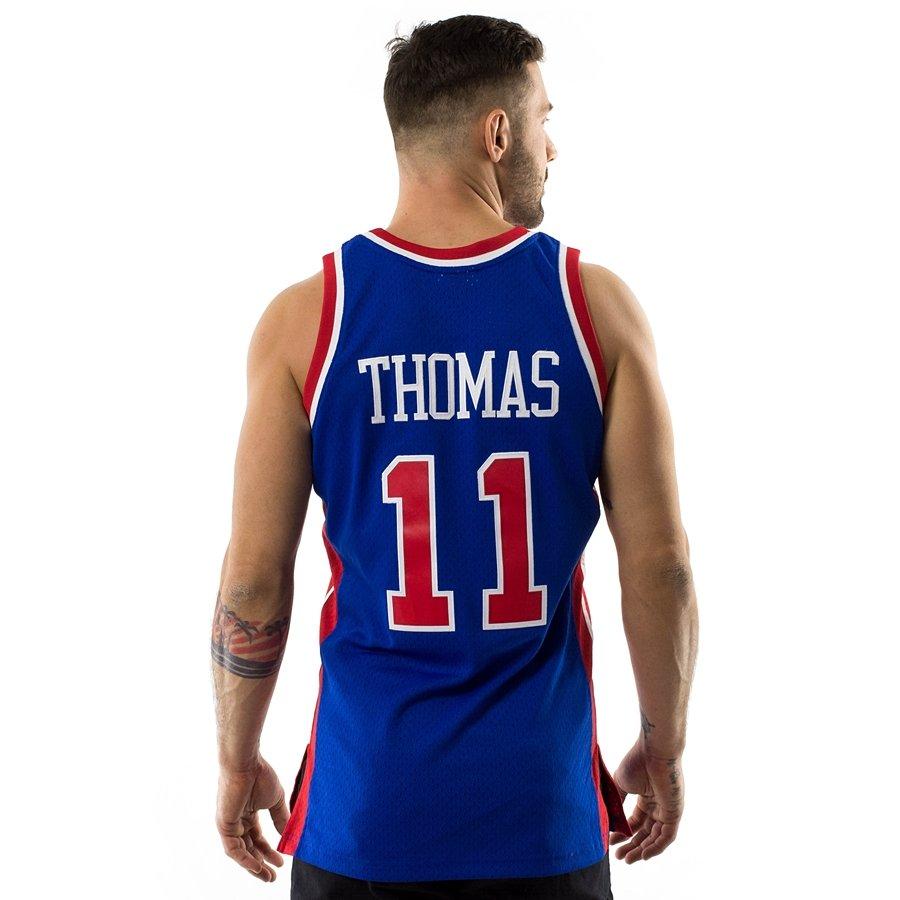 sale retailer bb0f5 90b39 Koszulka męska Mitchell and Ness Swingman Jersey HWC Detroit Pistons Isiah  Thomas 1988-89 royal / red