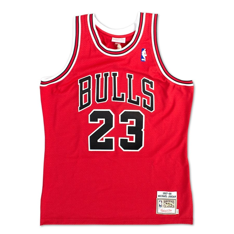 Koszulka męska Mitchell and Ness authentic jersey HWC Chicago Bulls Michael Jordan 1997 98 red