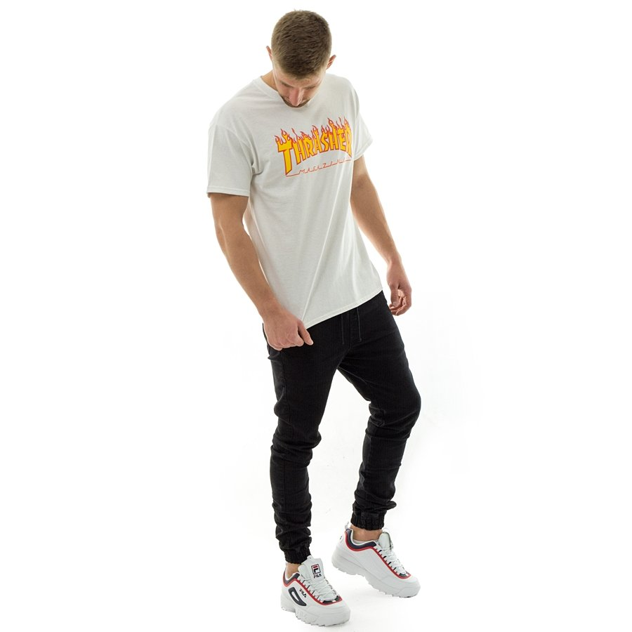 Koszulka męska Thrasher t shirt Flame Logo white