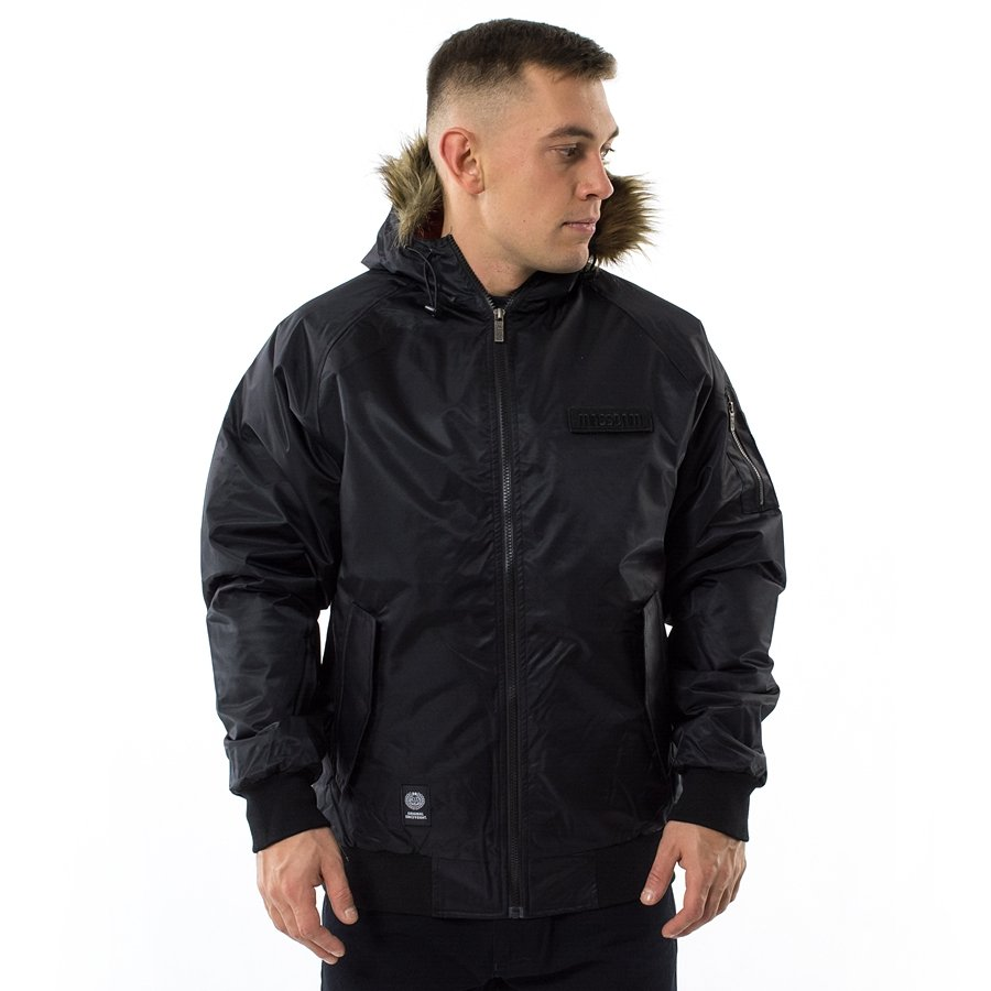d3606048e39b1 Kurtka zimowa Mass Denim jacket Bomber black Kliknij, aby powiększyć ...