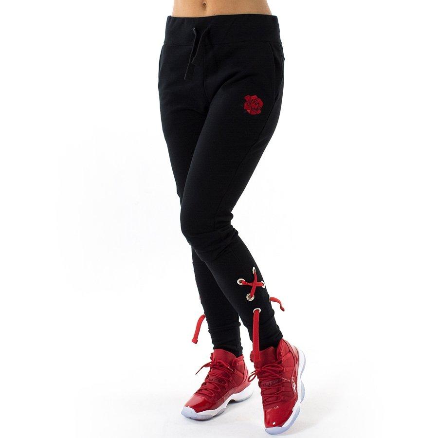Spodnie dresowe damskie Jungmob Rose String black