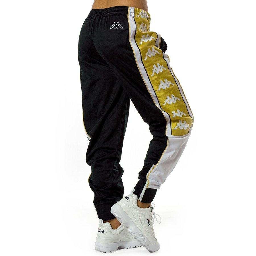 Spodnie dresowe damskie Kappa Authentic Banda Alen Sport Trousers black white gold