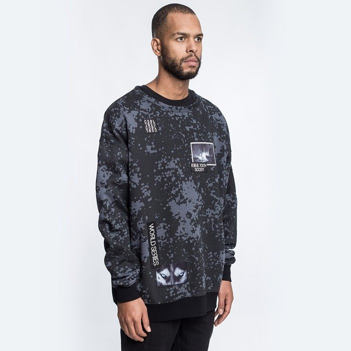 Bluza Cayler and Sons BL oversized crewneck Series black camo / grey