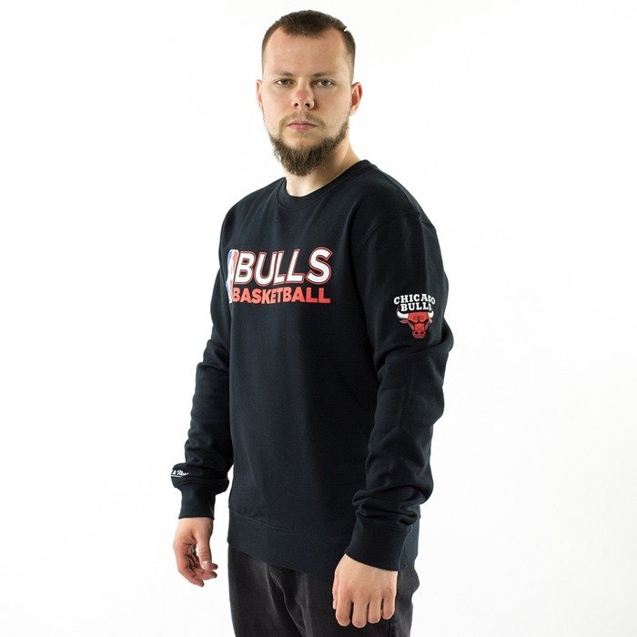 Bluza Mitchell and Ness crewneck Team Issued Crew Chicago Bulls black