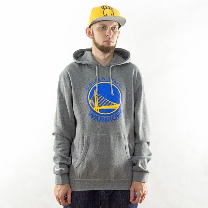 Bluza Mitchell and Ness hoody Team Logo Golden State Warriors grey heather