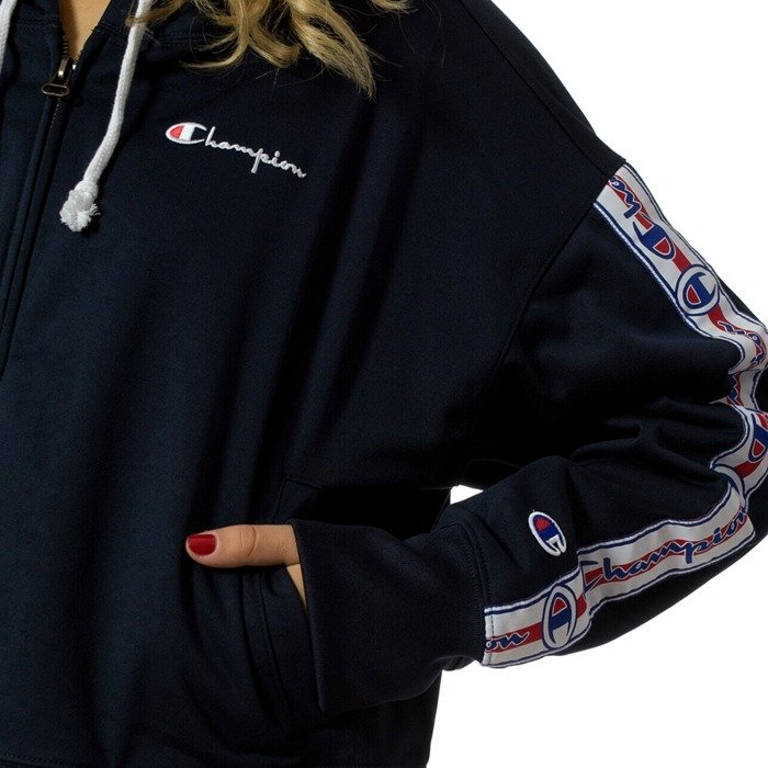 Bluza damska Champion hoody WMNS Reverse Weave Full Zip Top navy (111248/F18/BS501)