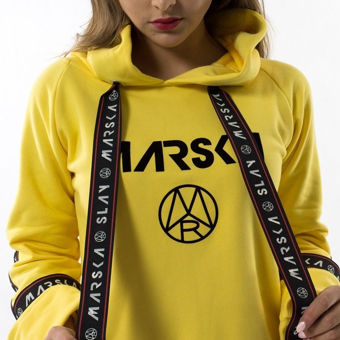 Bluza damska Marska Mr Yellow Hoodie Tape yellow