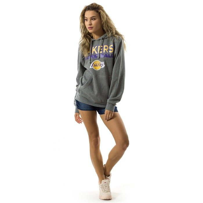 Bluza damska Mitchell and Ness hoody Pure Shooter Los Angeles Lakers grey heather