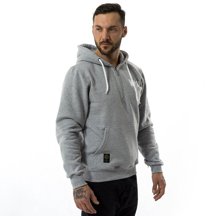 Bluza męska Mass Denim hoody Half Zip Signature Anniversary light heather grey