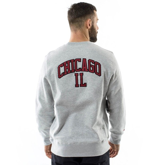 Bluza męska Mitchell and Ness crewneck PlayOff Win Chicago Bulls grey heather