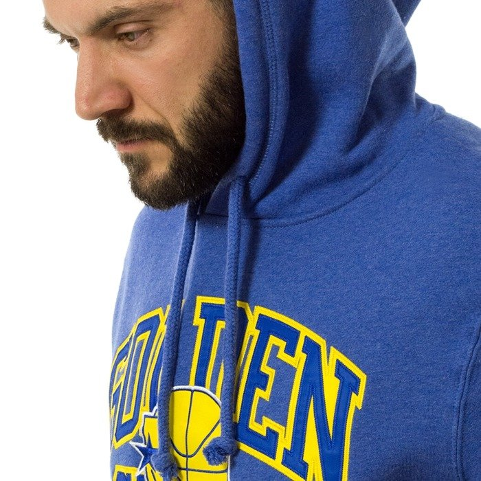 Bluza męska Mitchell and Ness hoody Playoff Win Hoody Golden State Warriors royal