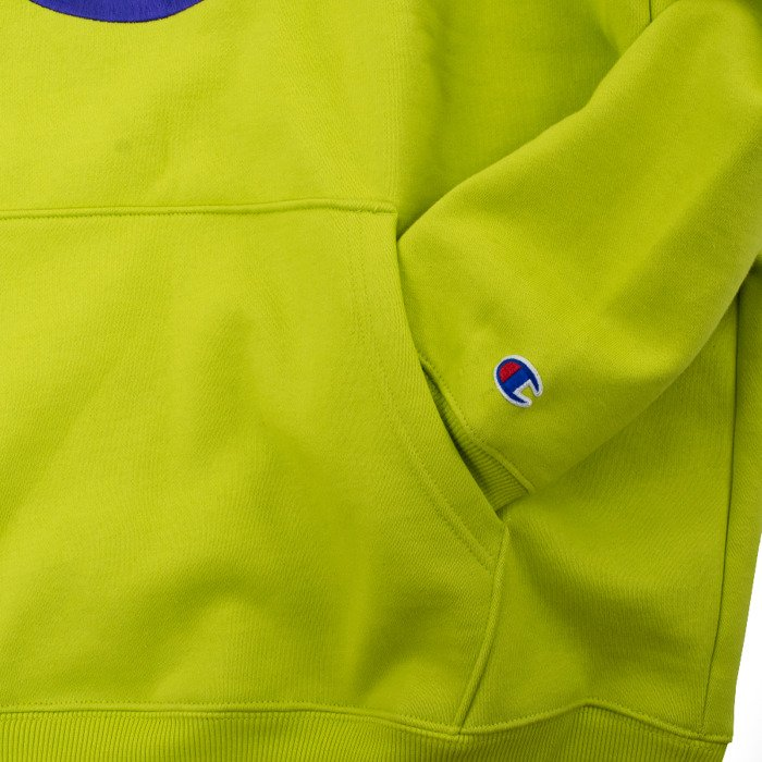 Bluza męska Supreme x Champion Stacked C Hooded Sweatshirt bright green