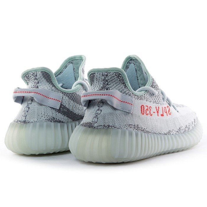 Buty Adidas Originals Yeezy Boost 350 V2 blue tint / grey heather / hire red (B37571)