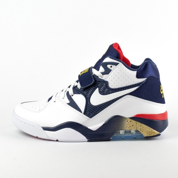 Buty do koszykówki Nike Air Force 180 Olympic white / white  - midnight navy - metallic gold (310095-100) TM