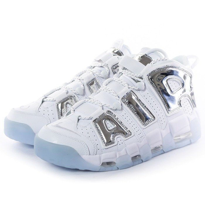 Buty do koszykówki UNISEX Nike Air More Uptempo white / chrome / blue tint (917593-100)
