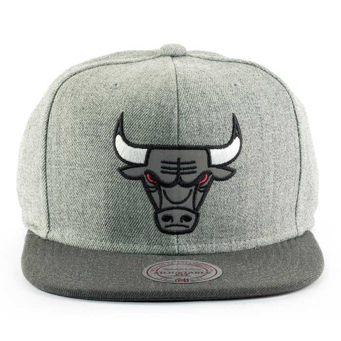 Czapka Mitchell and Ness snapback Heather Reflective Chicago Bulls grey / charcoal